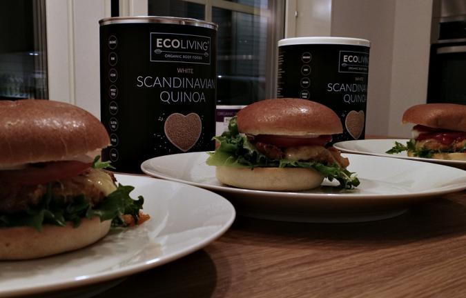 Quinoa plant based burgers